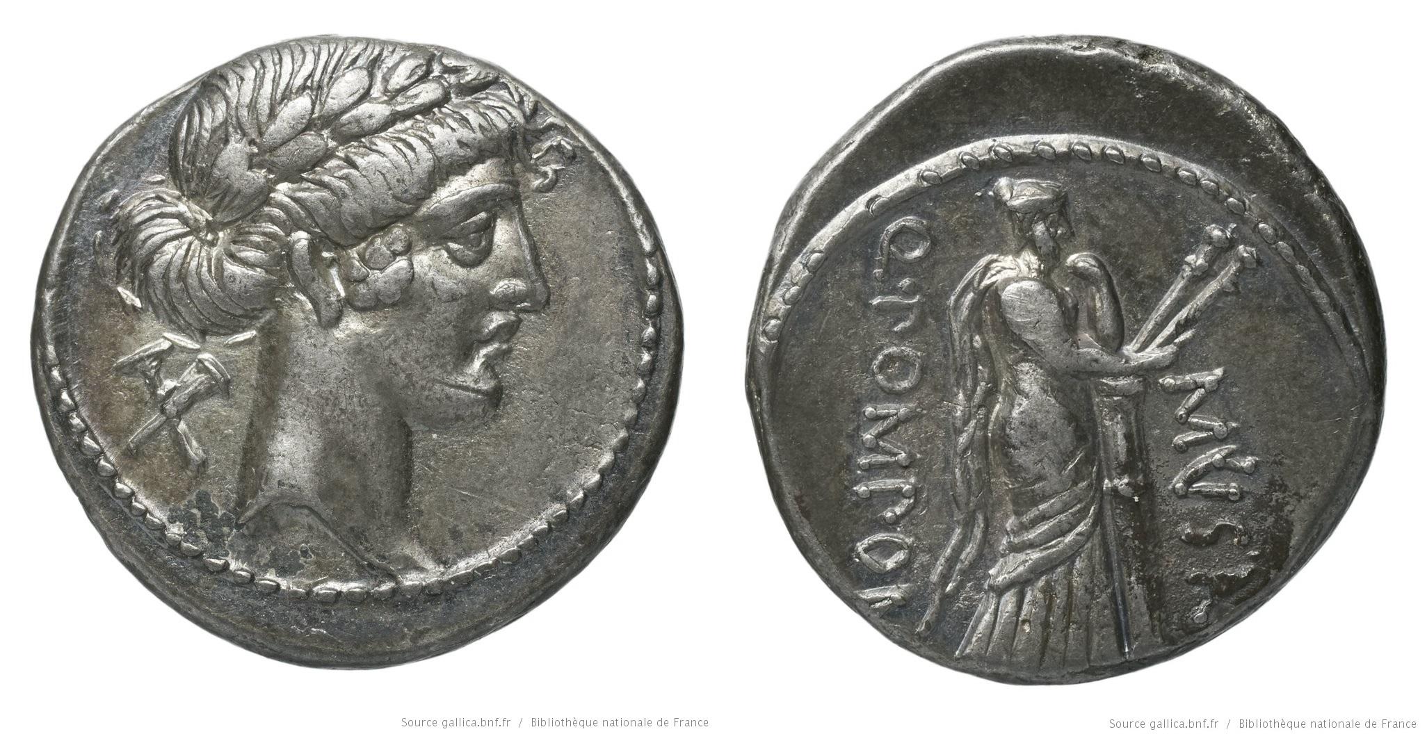1365PO – Denier Pomponia – Quintus Pomponius Musa