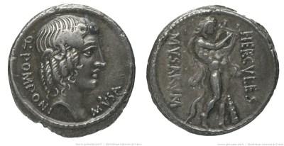 1361PO – Denier Pomponia – Quintus Pomponius Musa