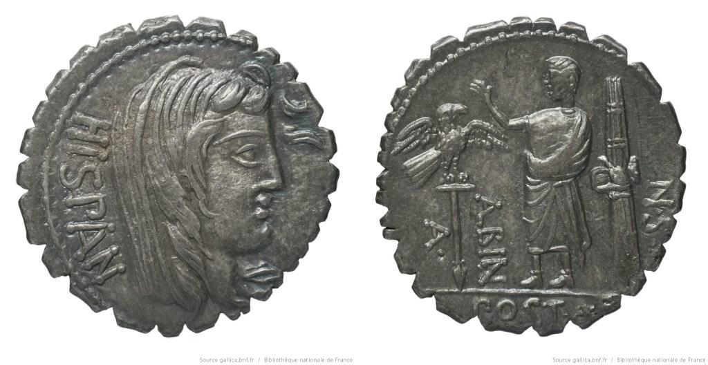 Read more about the article 1301PO – Denier Serratus Postumia – Aulus Postumius Albinus