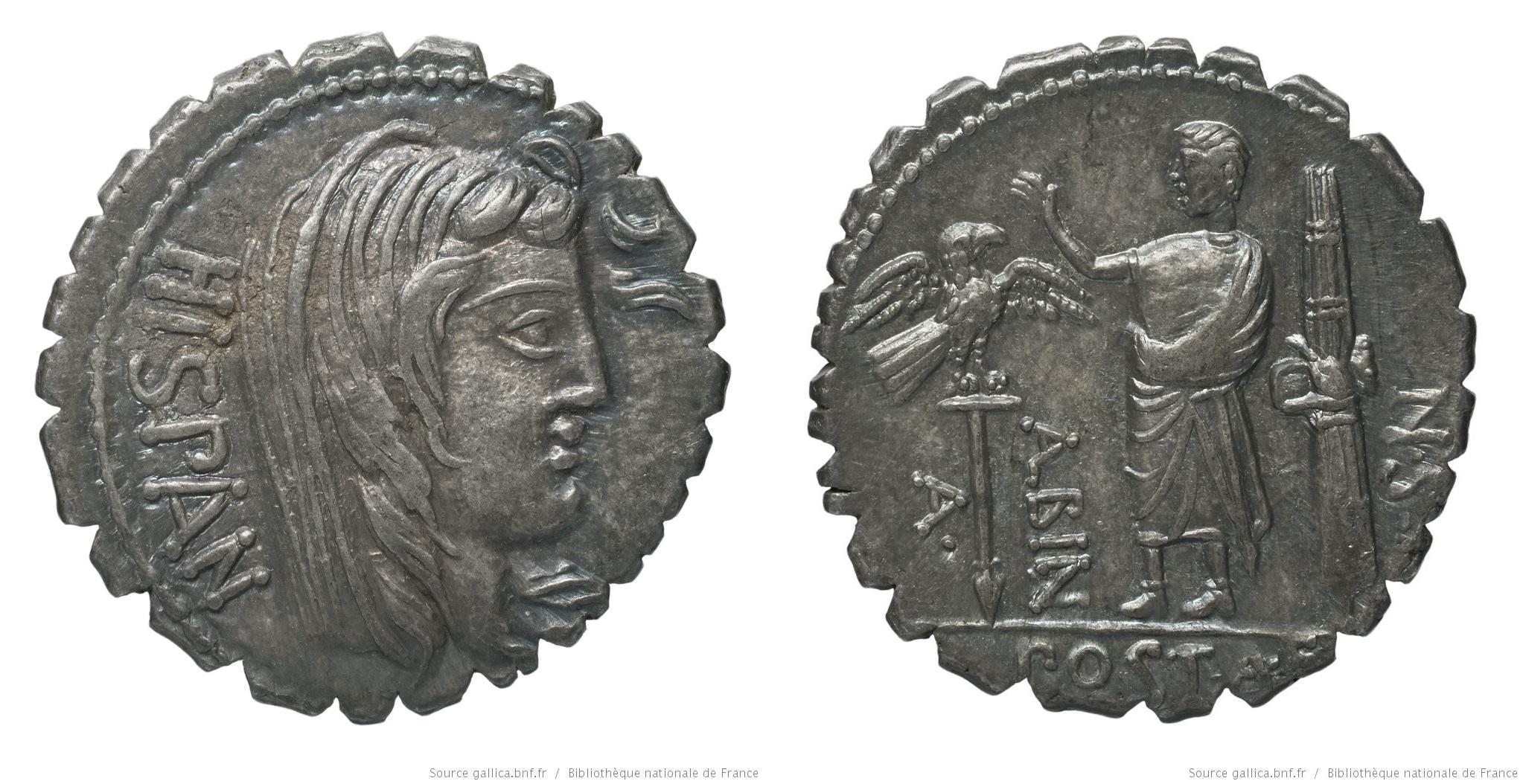 You are currently viewing 1301PO – Denier Serratus Postumia – Aulus Postumius Albinus