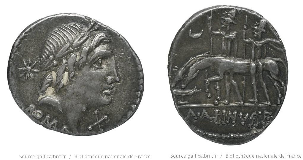 1189PO – Denier Postumia – Aulus Postumius Albinus