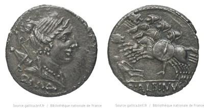 1187PO – Denier Postumia – Aulus Postumius Albinus