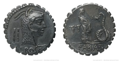 1372RO – Denier Serratus Roscia – Lucius Roscius Fabatus