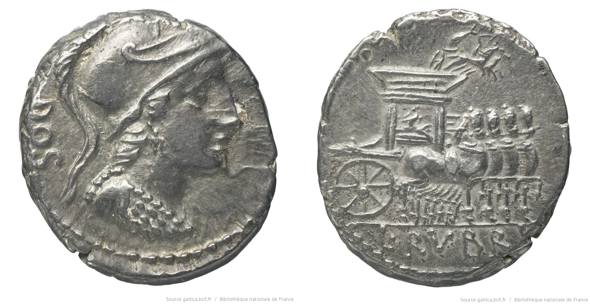 1252RU – Denier Rubria – Lucius Rubrius Dossenus