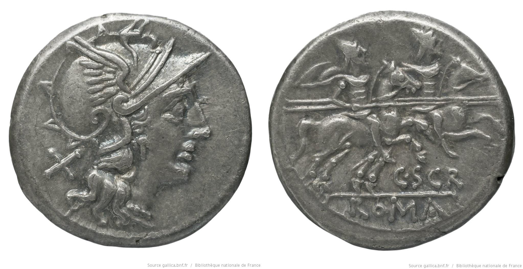 813SC – Denier Scribonia – Caius Scribonius
