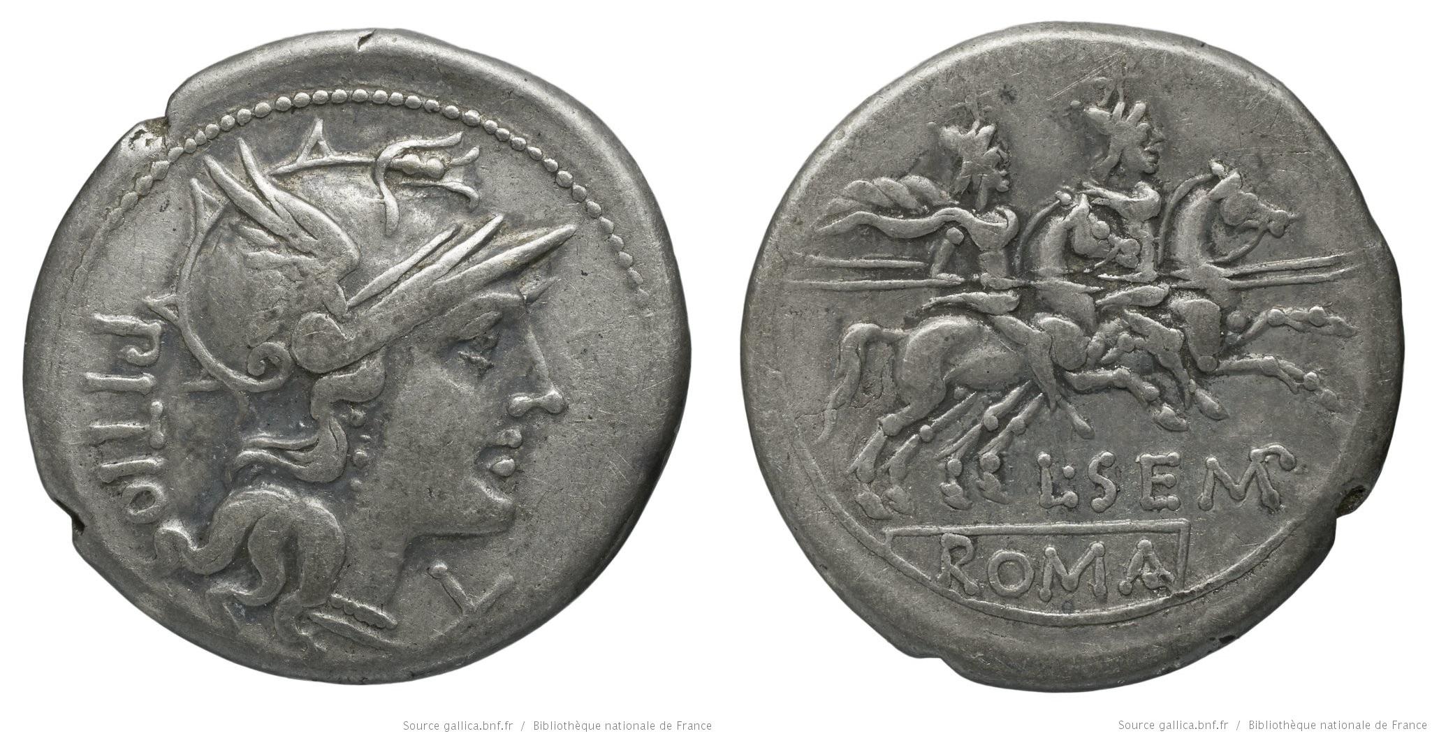 878SE – Denier Sempronia – Lucius Sempronius Pitio