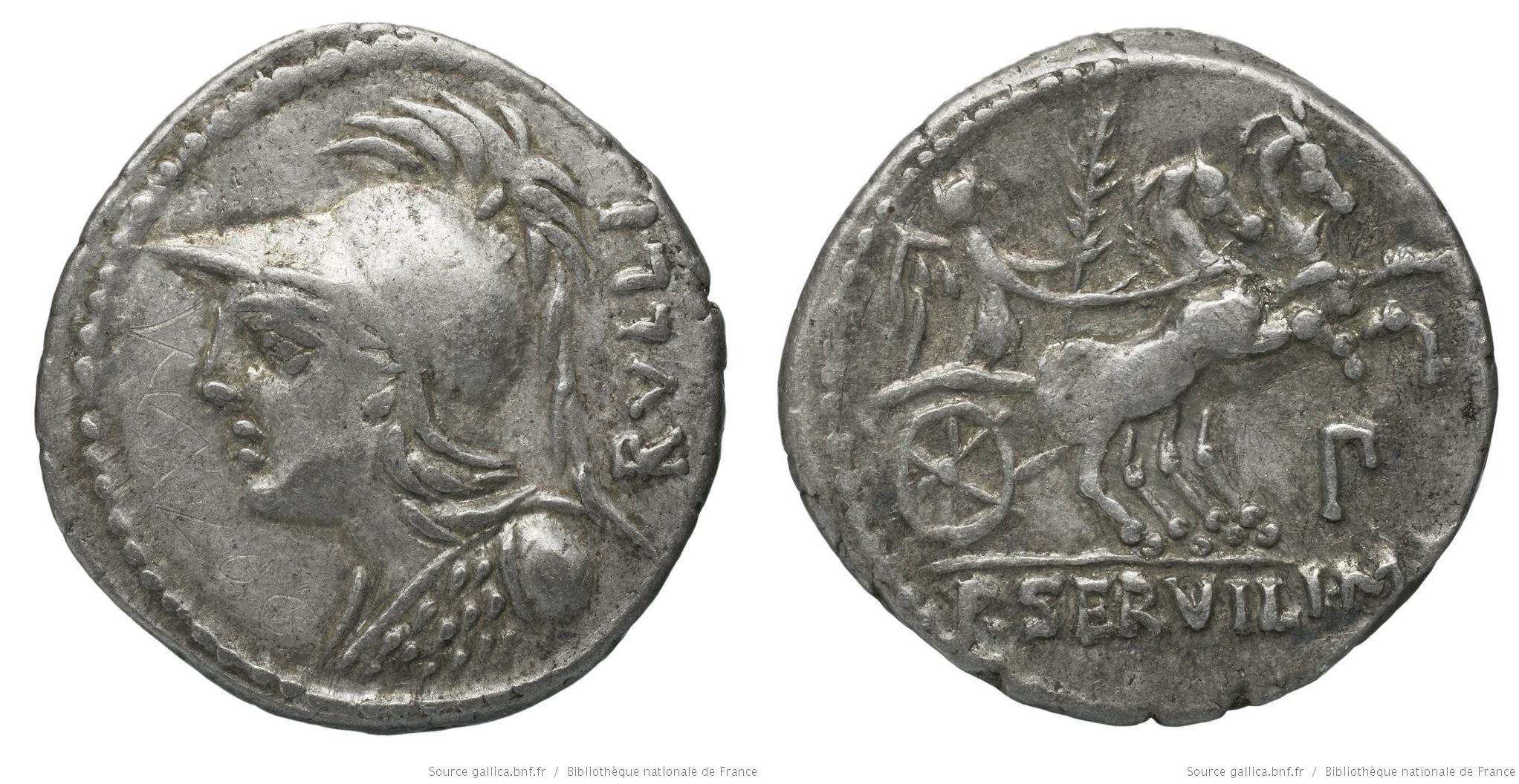 1163SE – Denier Servilia – Publius Servilius Rullus