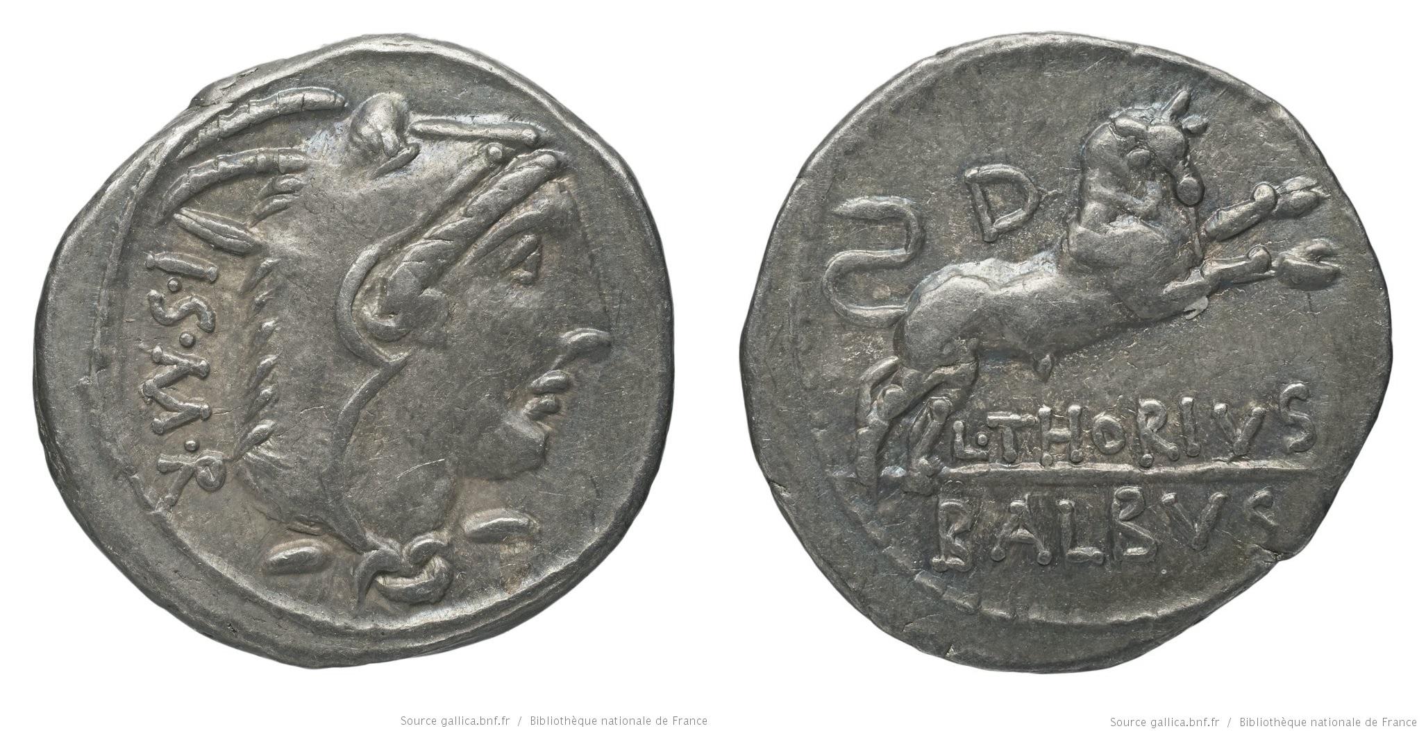 1144TH – Denier Thoria – Lucius Thorius Balbus