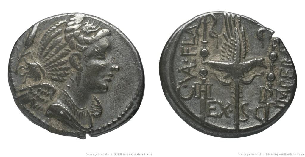 1288VA – Denier Valeria – Caius Valerius Flaccus