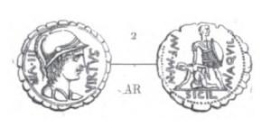 Denier Serratus Aquillia _ RRC 401/1