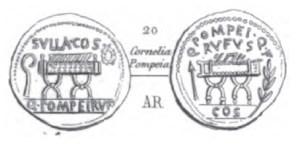 Denier Pompeia _ RRC 434/2