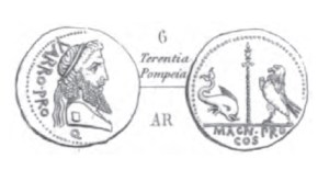 Denier Pompée _ RRC 447/1a