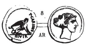 Denier Carisia _ RRC 464/1
