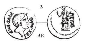 Denier Sextus Pompée _ RRC 477/3