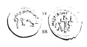 Denier Marc Antoine et Lépide _ RRC 489/2