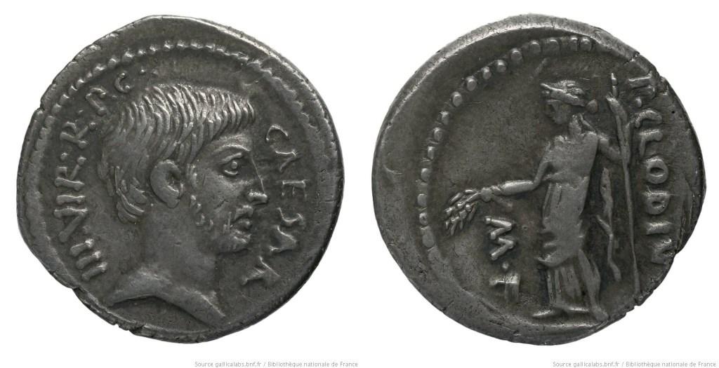 1597JU – Denier Octave – Publius Clodius
