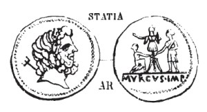 Denier Statia _ RRC 510/1