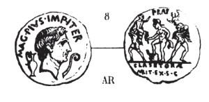 Denier Sextus Pompée _ RRC 511/3