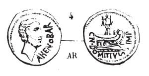Denier Domitius Ahenobarbus _ RRC 519/2