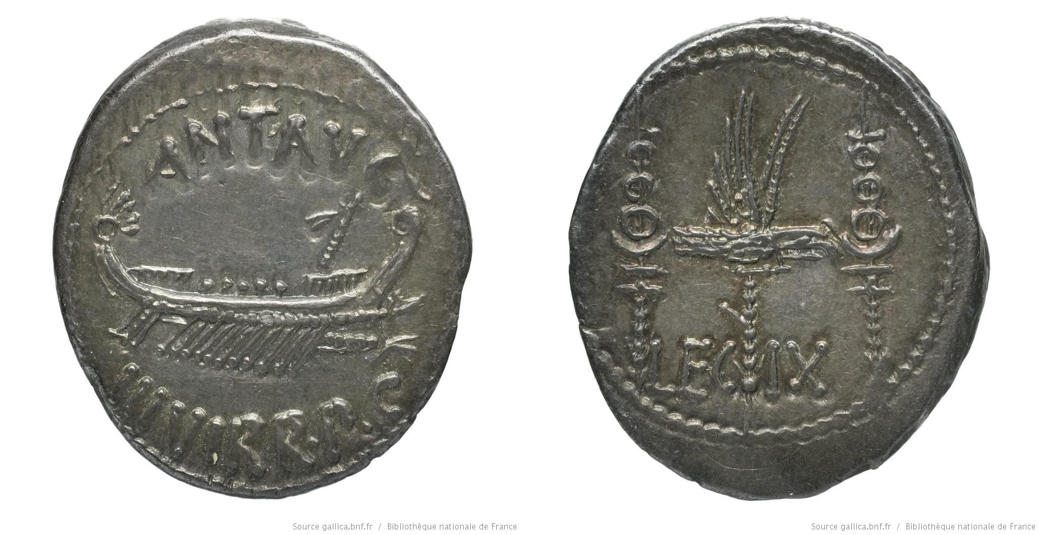 1773AN – Denier Marc Antoine – Marcus Antonius