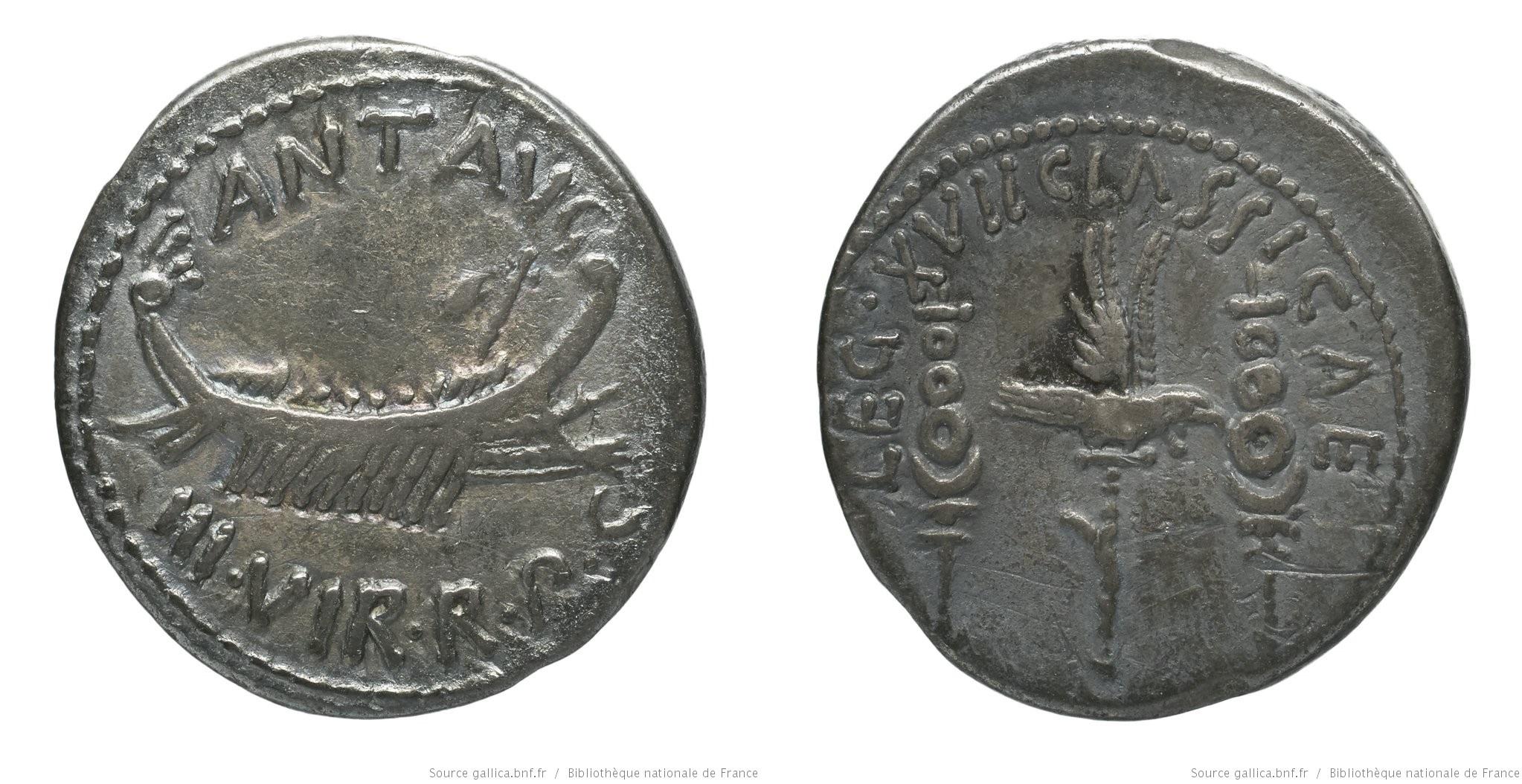 1760AN – Denier Marc Antoine – Marcus Antonius