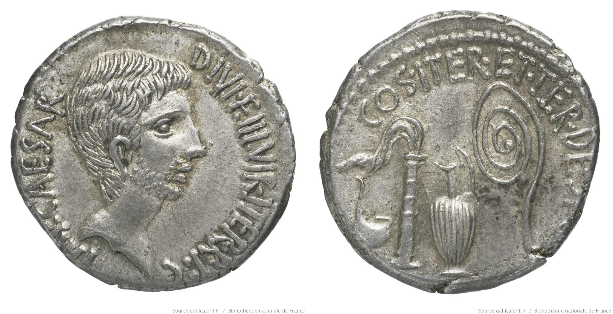 You are currently viewing 1741JU – Denier Octave – Caius Julius Cæsar Octavianus