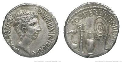 1741JU – Denier Octave – Caius Julius Cæsar Octavianus