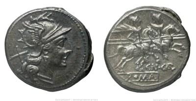 621CA – Denier Calpurnia – Cneus Calpurnius Piso