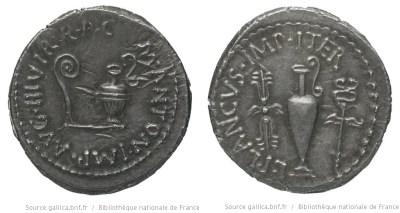 1702AN – Denier Marc Antoine – Lucius Munatius Plancus