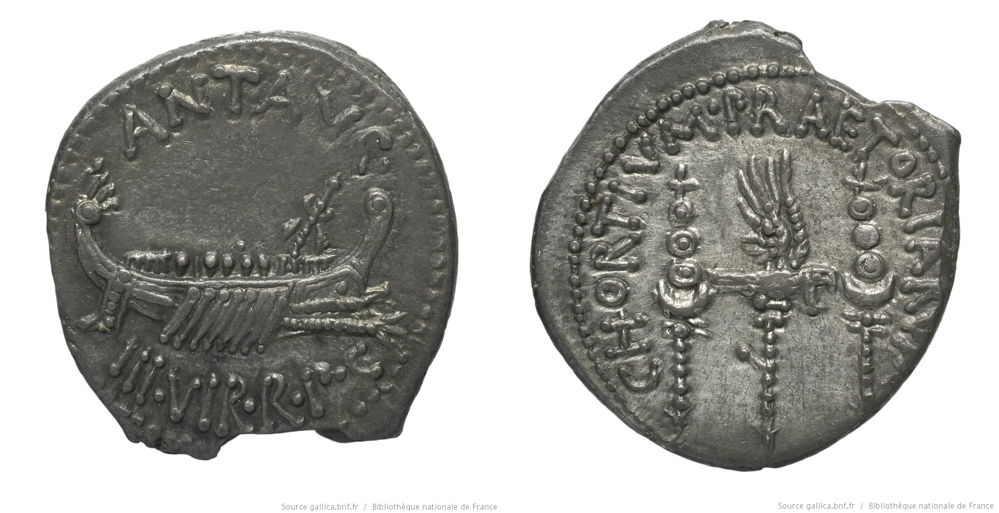 1758AN – Denier Marc Antoine – Marcus Antonius