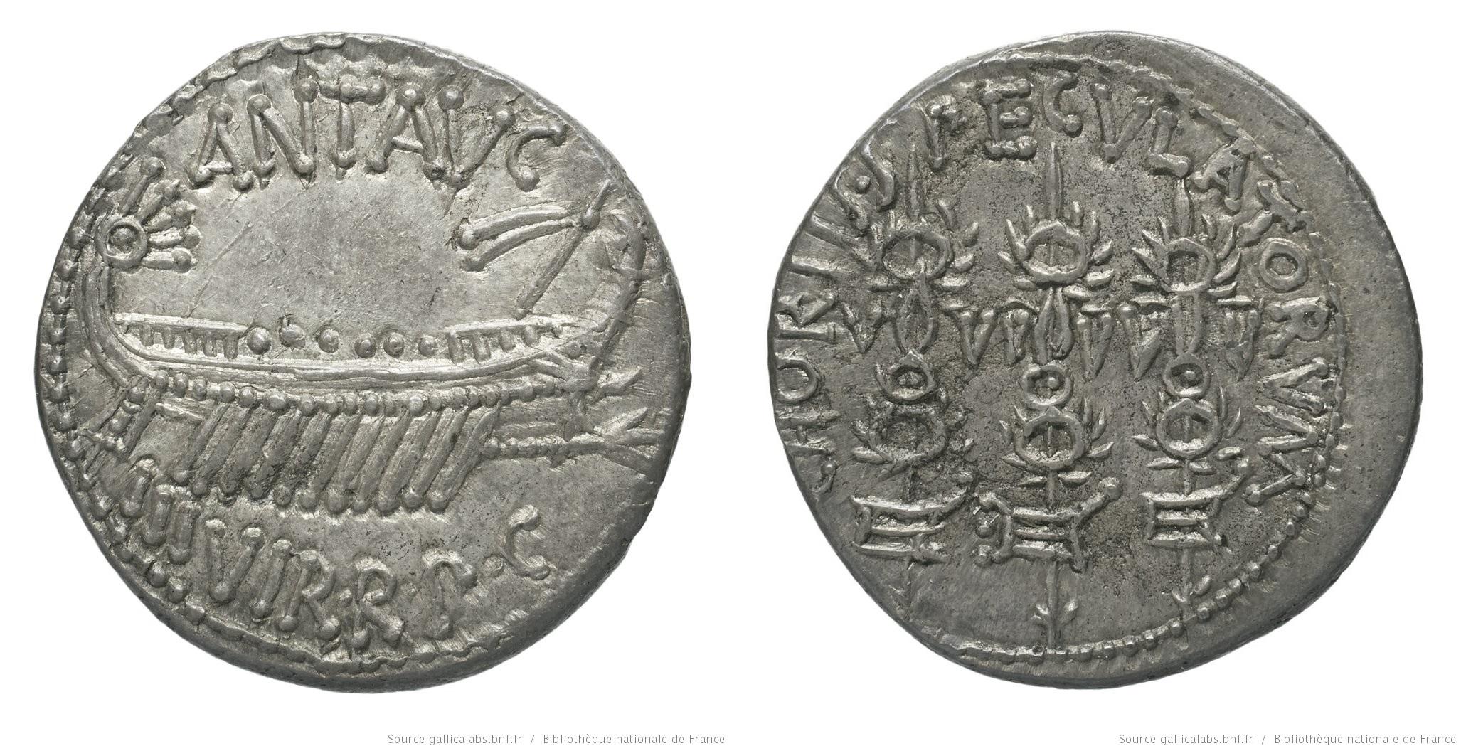 1762AN – Denier Marc Antoine – Marcus Antonius