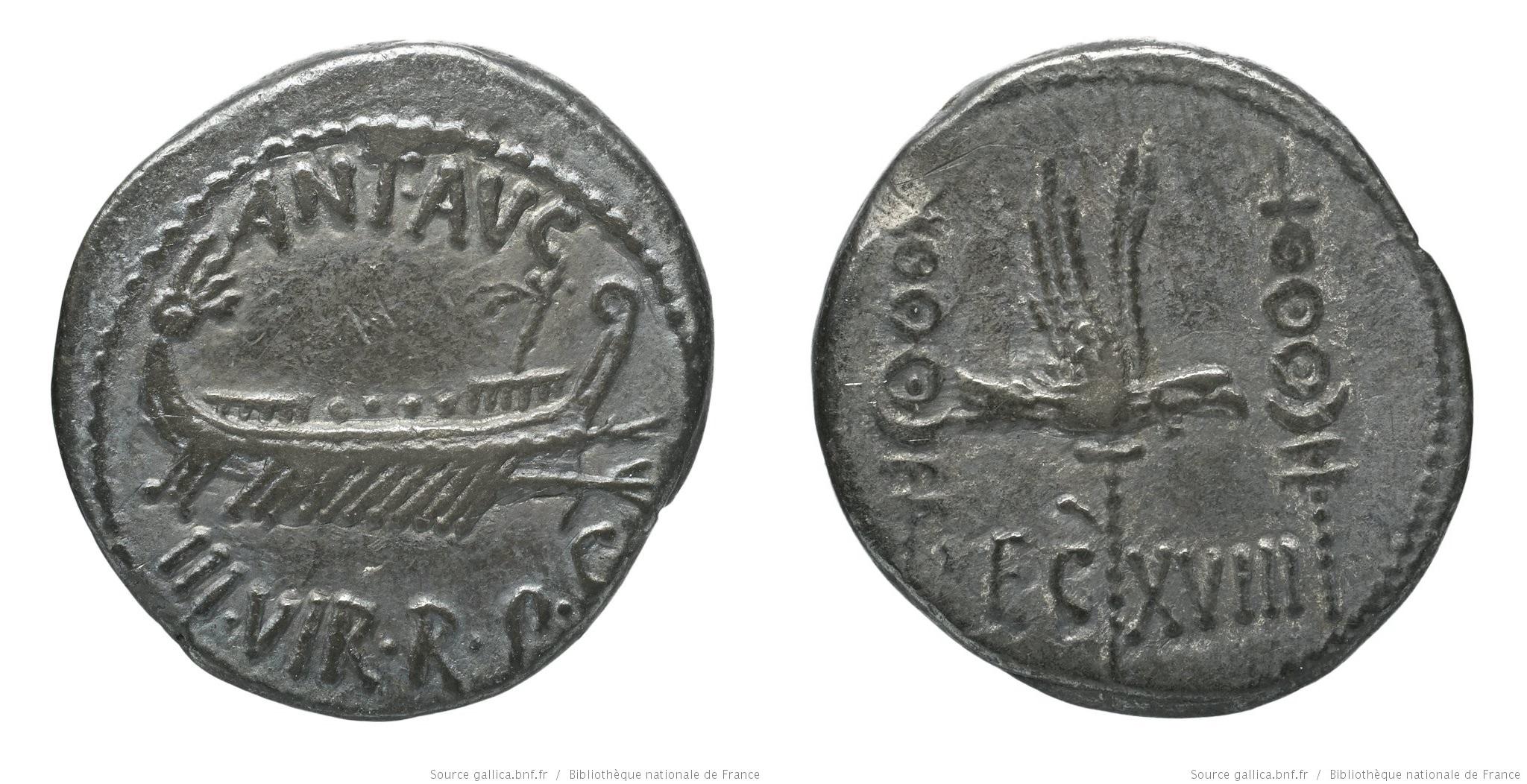 1783AN – Denier Marc Antoine – Marcus Antonius