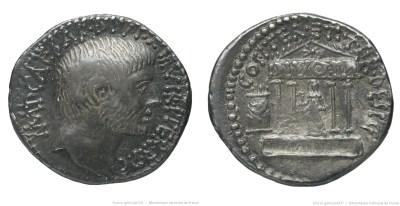 1745JU – Denier Octave – Caius Julius Cæsar Octavianus