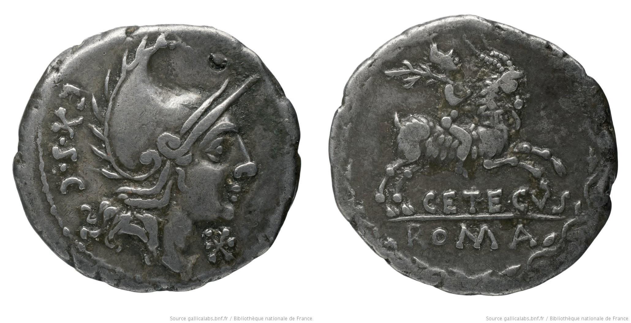 1085CO – Denier Cornelia – P. Cornélius Cetegus