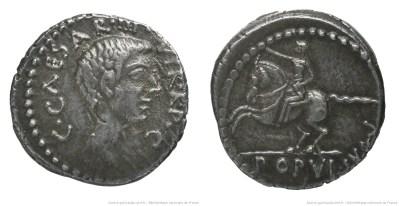 1695JU – Denier Octave – Caius Julius Cæsar Octavianus