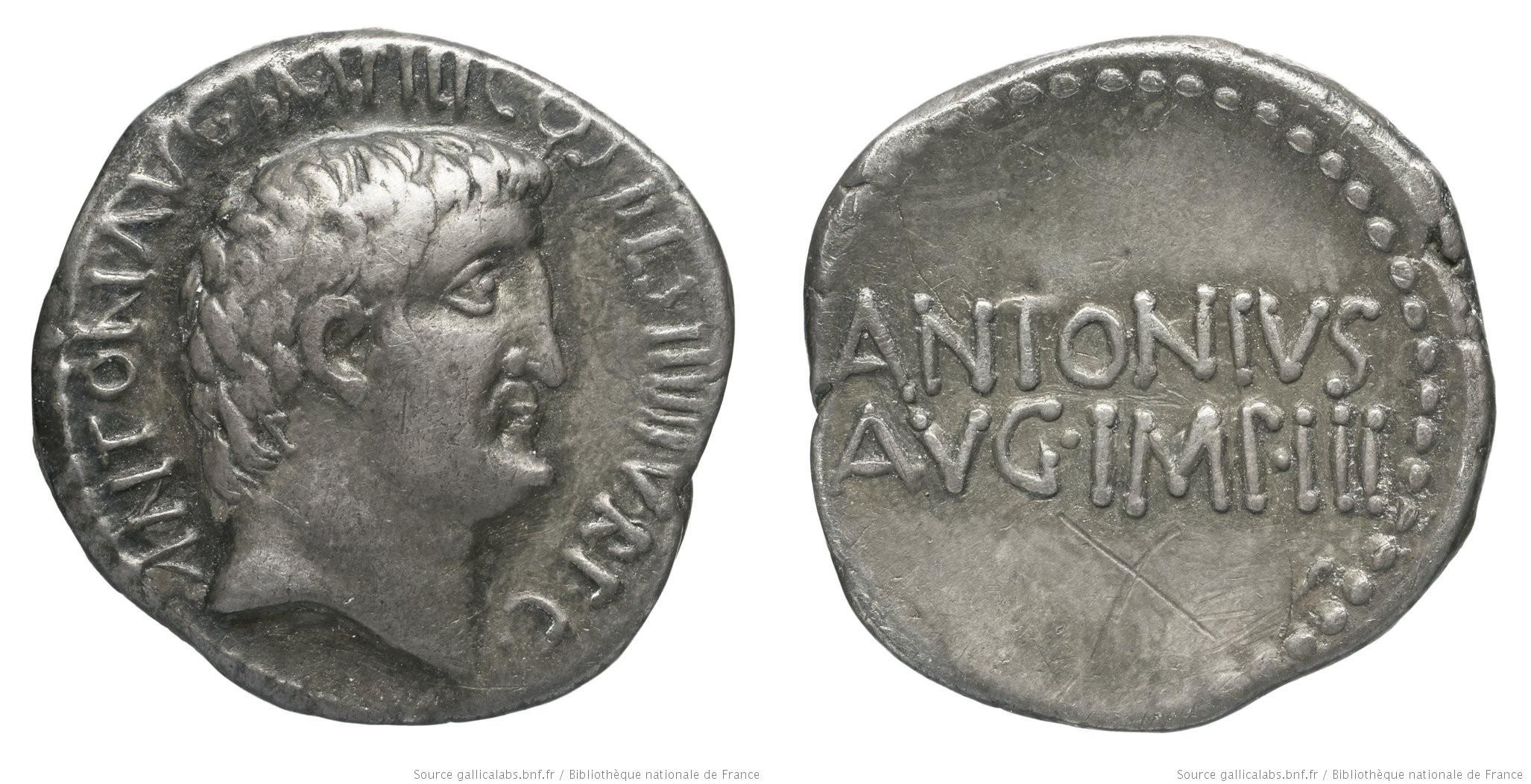 1749AN – Denier Marc Antoine – Marcus Antonius