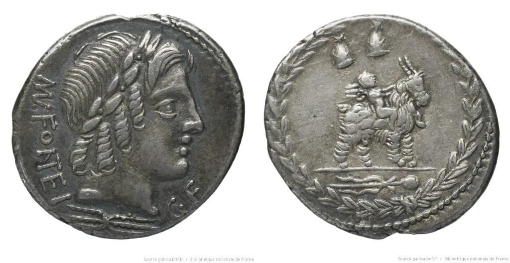 1269FO – Denier Fonteia – Manius Fonteius