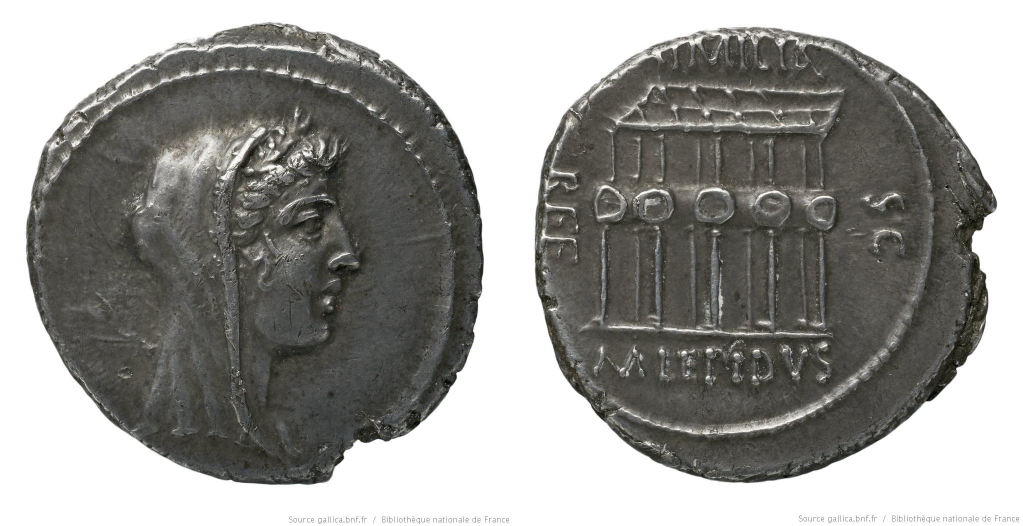 1386AE – Denier Aemilia – Marcus Æmilius Lepidus