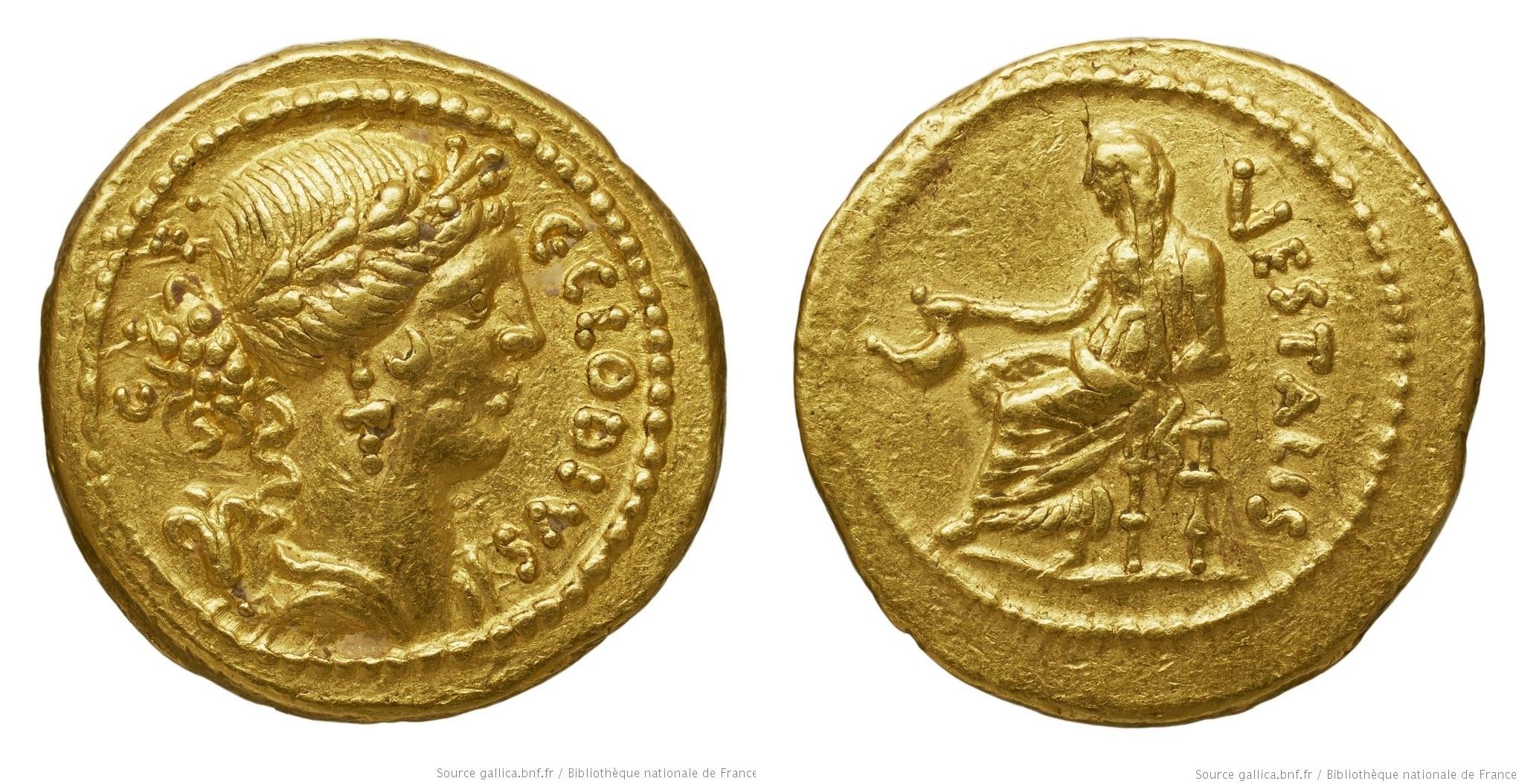1671CL – Aureus Claudia – Caius Claudius Vestalis