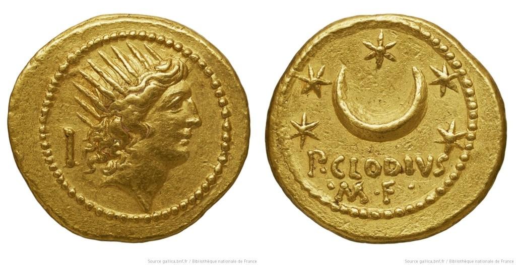 1598CL – Aureus Claudia – Publius Clodius