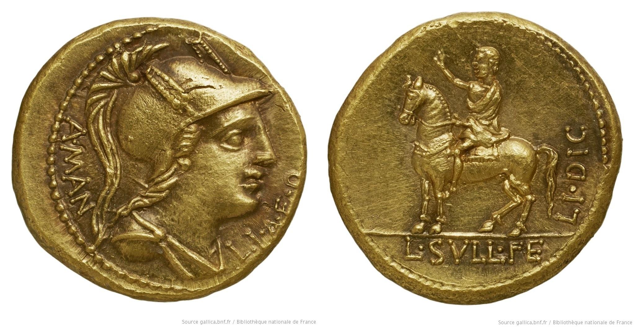 1314MA – Aureus Manlia – Aulus Manlius Sergianus
