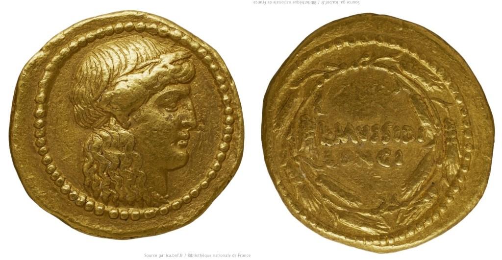 1622MU – Aureus Mussidia – Lucius Mussidius Longus