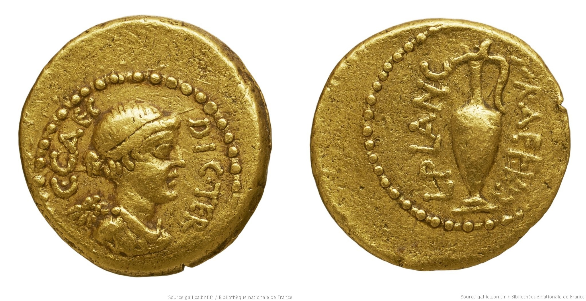 You are currently viewing 1517JU – Quinaire d'Or César – Lucius Munatius Plancus