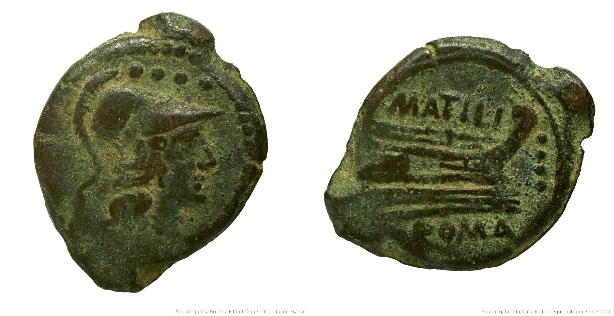 867AT – Triens Atilia – Marcus Atilius Saranus