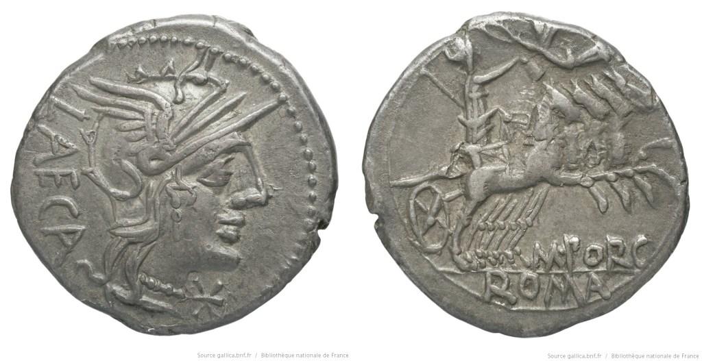 1044PO – Denier Porcia – Marcus Porcius Læca