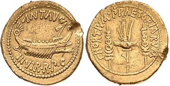 1751AN – Aureus Marc Antoine – Marcus Antonius
