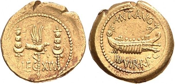 1756AN – Aureus Marc Antoine – Marcus Antonius