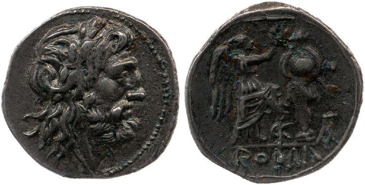 425VA – Victoriat Valeria – M. Valerius Laevinus
