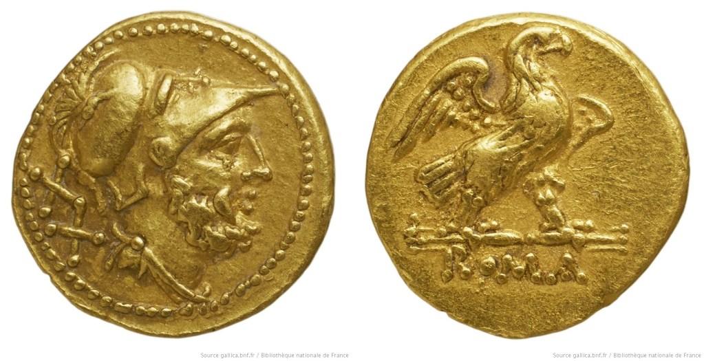 164AN – Aureus de 20 As Anonyme