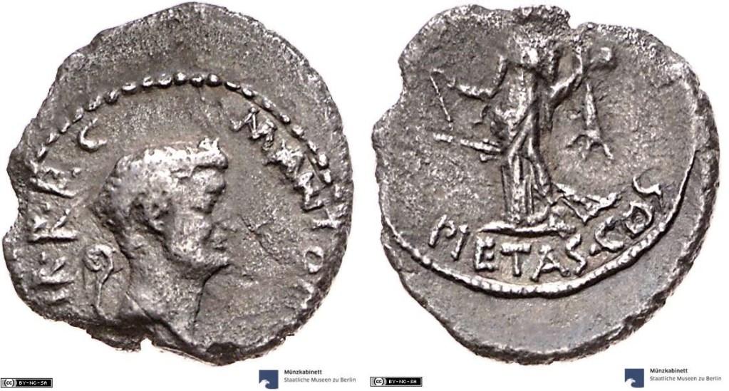 1682AN – Denier Marc Antoine – Marcus Antonius
